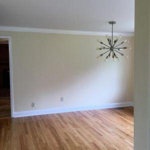 Ubaldo Construction Hardwoord Flooring, Paint and Lighting Fixture Project