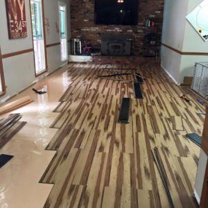 Unique Flooring Installation Project by Ubaldo Construction