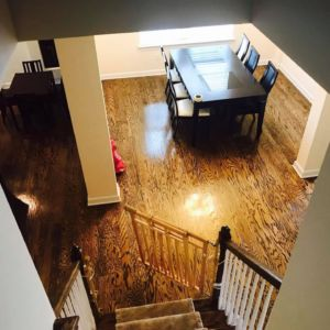 Stairway and Unique Custom Flooring by Ubaldo Construction